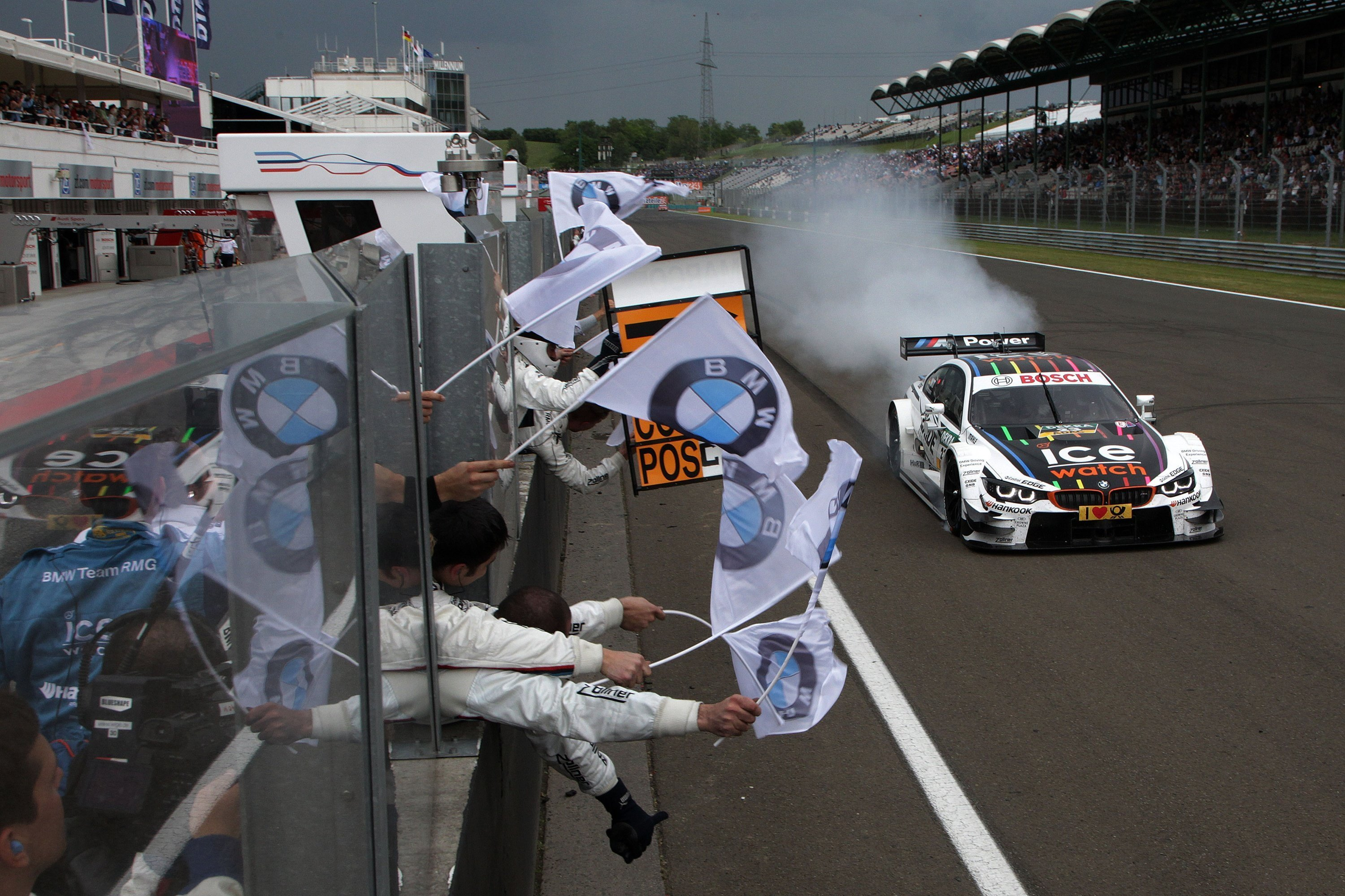Budapest (HU) 01th June 2014. BMW Motorsport, Winner Marco Wittmann (DE) Ice-Watch BMW M4 DTM. This image is copyright free for editorial use © BMW AG (06/2014).